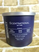 SCENTSATIONAL 26oz. 3-Wick Coconut Blend Wax Candle (Midnight) - New