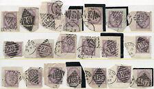 IRELAND QUEEN VICTORIA 20 stamps POSTMARKS 1881-90...L2