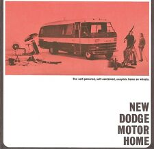 1963 Dodge Motor Home 4-Page Dealer Sales Brochure