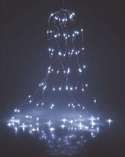 Micro Lichterbündel 160 LED kaltweiß - 8x20 LED / 2m - Leucht Draht Lichterkette