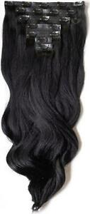 """Foxy Locks 22"""" Superior 230g Human Remy Clip In Hair Extensions - 20+ Colours"""
