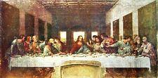 Leonardo da Vinci: Abendmahl Keilrahmen-Bild 50x100 Antik alt Klassiker