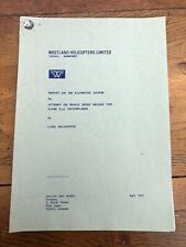 More details for 1972 report for the world speed record for rotoplanes. by lynx helicopter