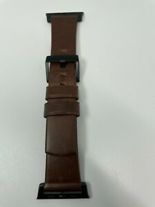 Horween Leather Nomad Strap for Apple Watch 44mm and 42mm Rustic Brown USED