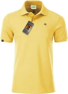JAN 8010 Bio Baumwolle Basic Polo Shirt Männer Organic Herren, COMPANIEER Gelb