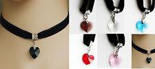 Chocker Retro Women Charm Choker Necklace Heart shaped pendant Gothic Prom