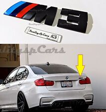 BMW M3 Sticker NERO Posteriore Serie 3 f31 e90 e46 M po Trunk Badge Logo Adesivo