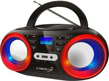 Cyberlux CL-810 Tragbares CD-Player - Schwarz/Rot