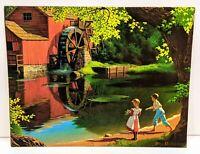 VTG Old Mill Stream Textured Art Print Paul Detlefsen 11 x 14 Winde Fine Prints