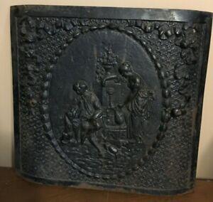 Antique Cast Iron Ornate Fireplace Cover, estate find North Georgia