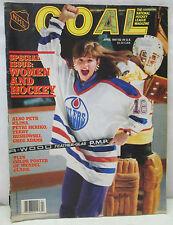 Vintage NHL GOAL National Hockey League Magazine April 1987 Women and Hockey