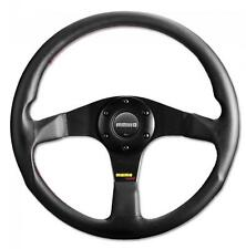 Momo Steering Wheel Tuner 350mm Black Leather with black centre