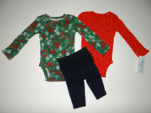 NWT, Baby girl clothes, 6 months, Carter's holiday set/    ~~SEE DETAILS ON SIZE