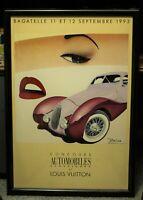Razzia Louis Vuitton Concours Automobiles Bagatelle 1993 Large French Poster