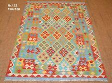 Handgewebter Orient Kelim Afghan Nr.152 - 198x150cm aus 100% Wolle