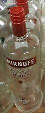 Smirnoff Vodka 1 Liter Empty Bottles Glass 4 Crafts Cut Pitcher led