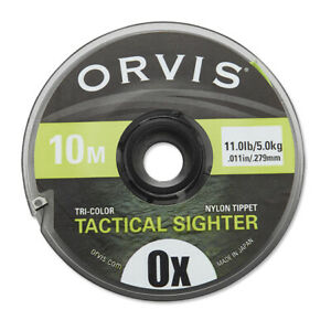 ORVIS TACTICAL SIGHTER IDICATOR TIPPET 10M 0X 11.0 LB SPOOL - FREE USA SHIPPING