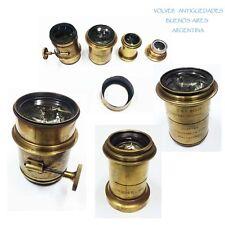 Interesting lot of brass lens Voigtlander & Sohn Walder & Son