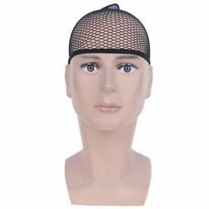 320 Mesh Weaving Elastic Wig Cap Fishnet Liner Stocking Sleep Net Black One Size