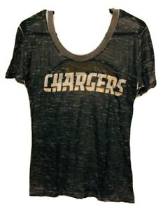 Los Angeles Chargers NFL Touch By Alyssa Milano 2 Side Print T-Shirt Size Medium