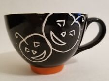 VTG 2007 Starbucks Coffee Black Orange Jack-O-Lantern Halloween 10 oz Mug Cup