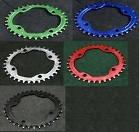 J&L Oval Narrow Wide 1x Single ChainRing-104-fit Sram,Shimano,FSA,RACEFACE,Rotor