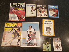 Hockey Magazines and Books, Early 1970s, autographs!