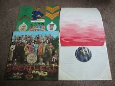 Beatles Sgt Peppers Lonely Heart Club Band Reino Unido 1st Press 1967 ondulados Interior en muy buena condición +/ex