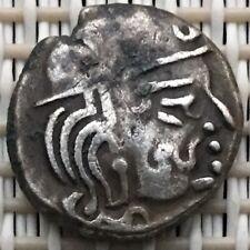475-767 Ancient Silver Coin,Valabhi,Maitrakas Dynasty,King Bhattaraka,Drachm.#8