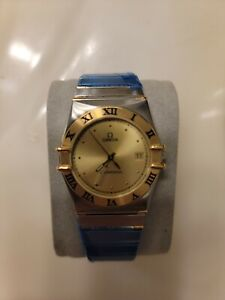 Mens Omega Constellation 18K Gold & SS Watch