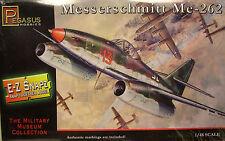 WWII GERMAN ME-262 JET FIGHTER 1:48 SCALE PEGASUS EZ SNAP PLASTIC MODEL KIT