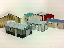 N Scale Shed Buildings - Farm / Mechanical / Maintenance Sheds Cardstock kit set