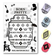 BORN PRETTY Water Decal Diamond Shape Nail Art Sticker 2 Patterns/Sheet BPY05
