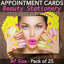 Appointment Cards for beauty salons,therapists, make up, Pack of 25 CLN