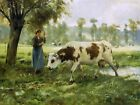 Julien Dupre Cows at Pasture Fine Art Print Wall Decoration Painting Small 8x10