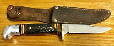 "Western USA Knife ""Bird and Trout"" Hunting Camping Vintage Collectible Awesome!!"