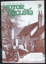 MOTOR CYCLING MAGAZINE 8 JUL 1936 - European GP 500cc Norton, 250cc Excelsior