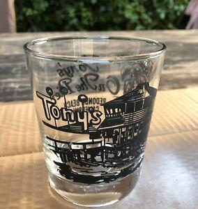 Vintage Tony's On The Pier Redondo Beach Rocks Glass Classic Barware Tiki Beach