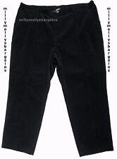 Nouveau Haut Marks & Spencer Noir Classique Cordon Pantalon Taille 12 Court Étiquette faute