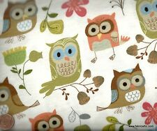 Woodland owls flannel children's cute Timeless Treasures fabric