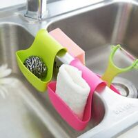 Sponge Holder Rack Tool Double Sink Caddy Saddle Style Kitchen Organizer Storage