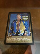 WWE Raw Deal CCG The Rock Superstar Card !! FREE SHIPPING !!
