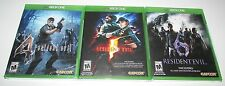 Resident Evil 4, 5 & 6 Bundle for Xbox One Factory Sealed!