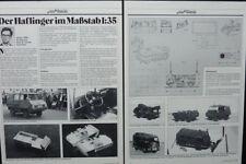 Modelismo Steyr-Puch Haflinger el 700 ap... un informe de modelo