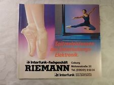 altes Prospekt alter Katalog Interfunk Loewe Technics Sony Sanyo Fisher ...