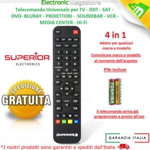 Telecomando Universale Compatibile Tv Lcd Led Televisore Decoder Ricevitori Dvd