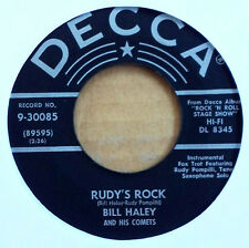 BILL HALEY & HIS COMETS - RUDY'S ROCK b/w BLUE COMET BLUES - DECCA 45 - 1956