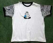 """Adult BABY EMBROIDERED DIAPER SHIRT CUTE BABY ZEBRA  50"""" CHEST"""