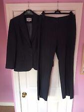 NEXT Petite Size 12 Womens Grey Pinstripe Two Piece Suit Jacket Trousers