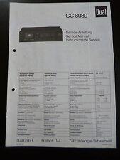 Original Service Manual  Dual CC 8030